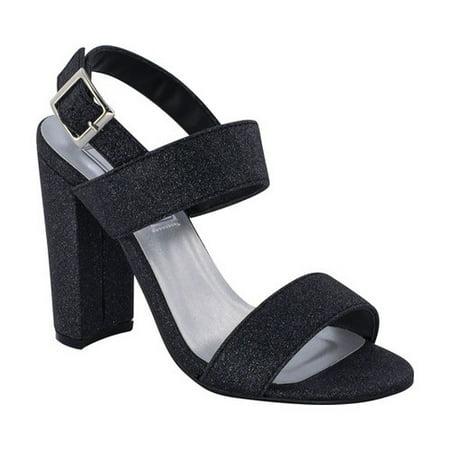 touch ups women's jordan heeled sandal, black, 5.5 m (Best Jordan Kobe Shoes)