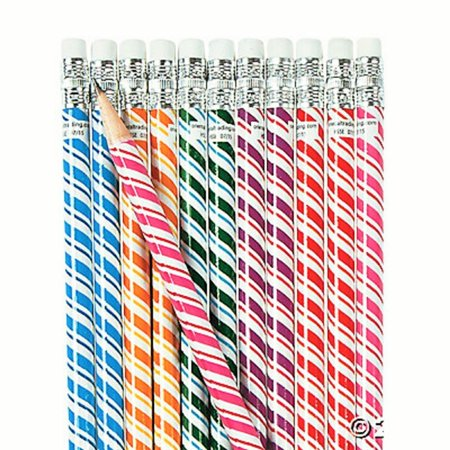 24 ~ Swirl Pixie Stick Pencils ~ 7.5
