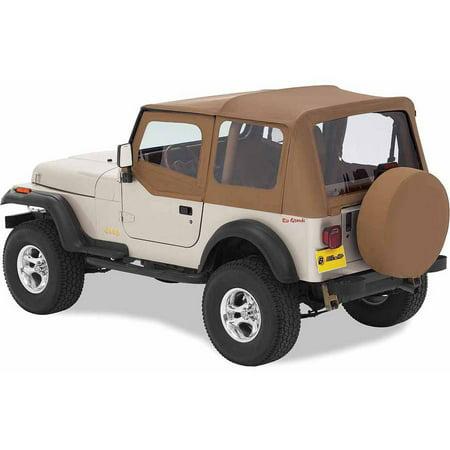- Bestop 51124-37 Jeep Wrangler Replace-A-Top Fabric Top with Half-Door Skins/Tinted Windows, Spice