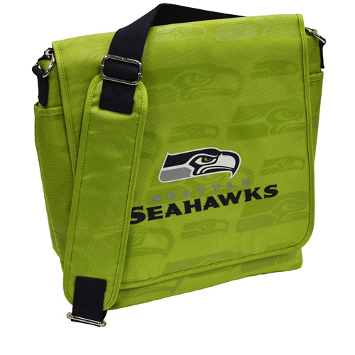 NFL Diaper Bag by Lil Fan, Messenger Style - Seattle Seahawks