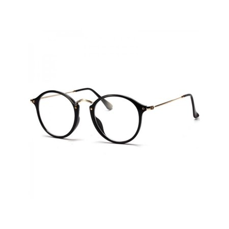 MAXSUN Unisex Women Men Vintage Retro Round Metal Eyeglasses Frame 1013 Eyeglasses Brown Frame