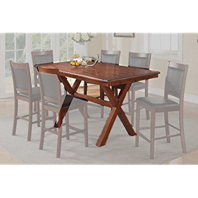 Counter Height Table With Crisscross Design On Legs Walmart Com