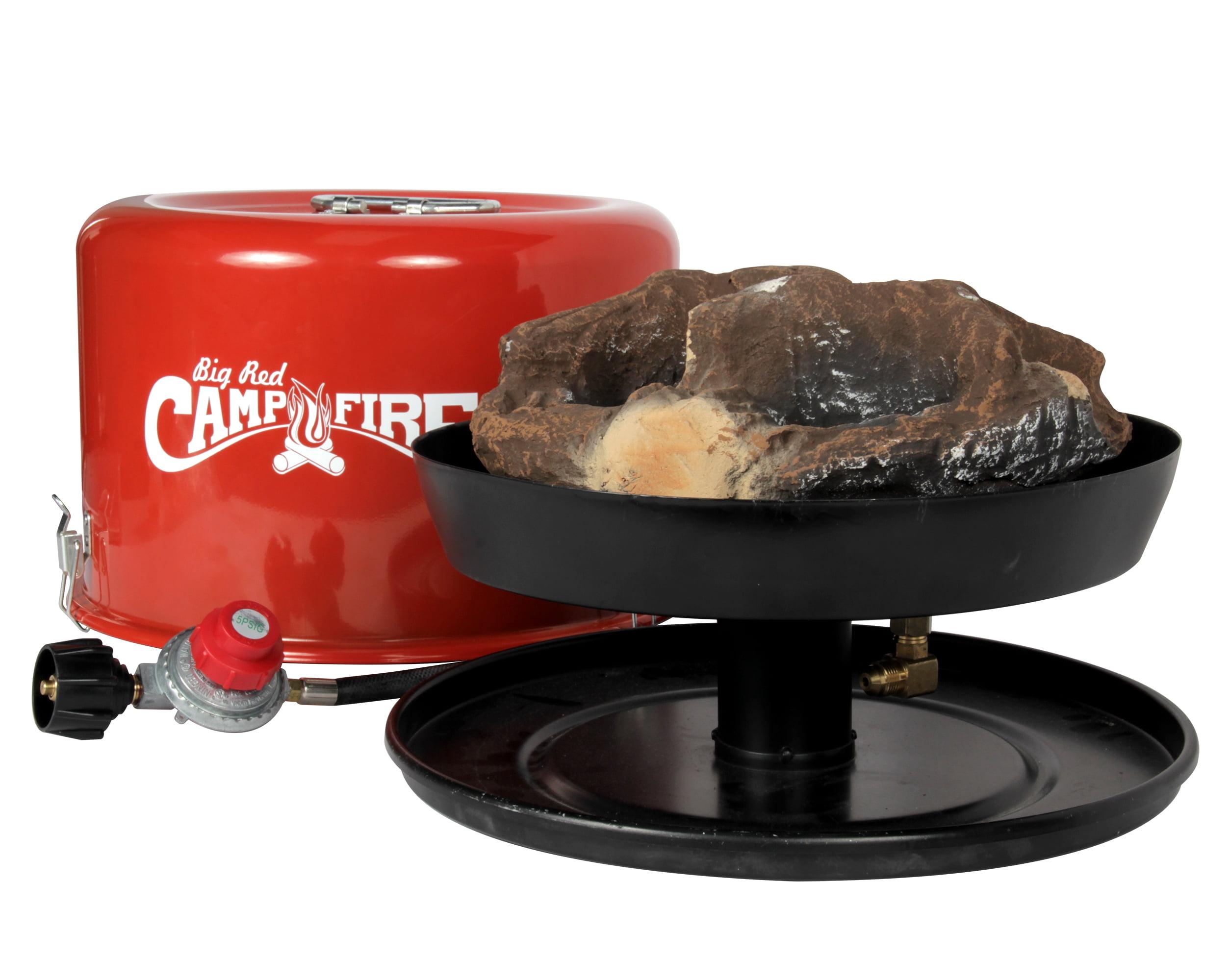 Camco 58035 Big Red Campfire Approved For Rv Campgrounds Includes 10 Foot Propane Hose Walmart Com Walmart Com