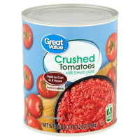 Great Value Crushed Tomatoes with Tomato Puree, 28 oz