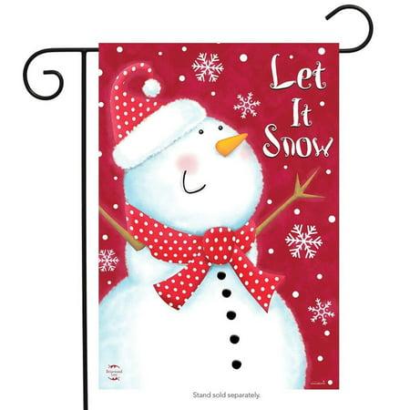 Snow Day Snowman Garden Flag Winter Primitive 12.5  x 18  Briarwood Lane Snow Day Snowman Garden Flag Winter Primitive 12.5  x 18  Briarwood Lane condition: New Brand: Briarwood LaneMPN: G00698Material: PolyesterSize: 12.5  x 18