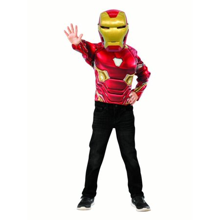 Iron Man Muscle Chest Shirt Set � Kids Costume - Size - Iron Man Suit For Children