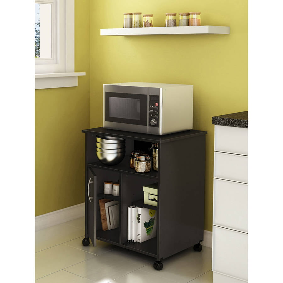 Ameriwood home landry microwave cart white walmart com