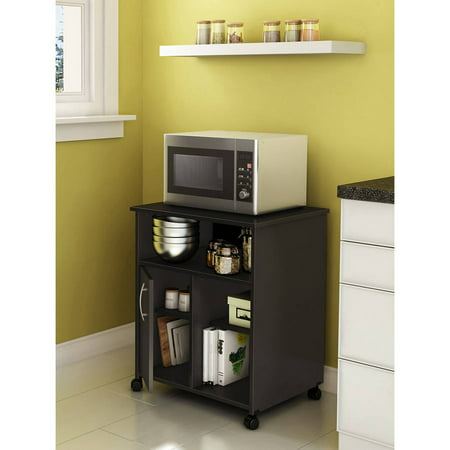 South Shore Smart Basics Microwave Cart With Storage On Wheels  Multiple Finishes