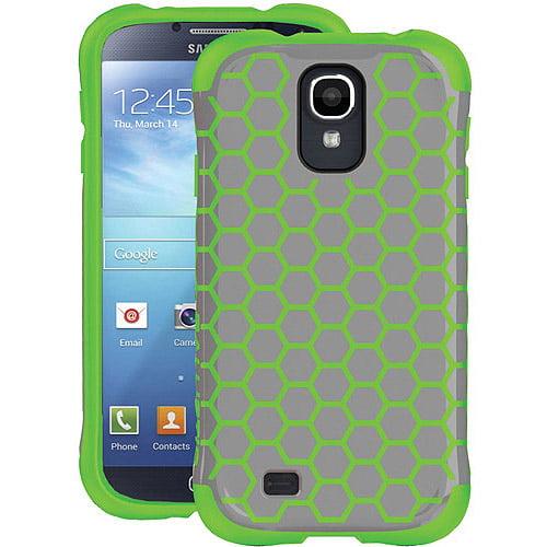 Ballistic Aspira Honeycomb Pattern Case for Samsung Galaxy S4 - Retail Packaging - Gray/Apple