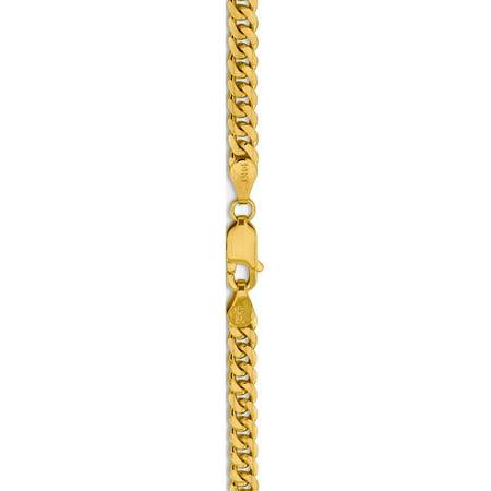 14k 4.0mm or jaune Domed Cha?nette - image 4 de 5