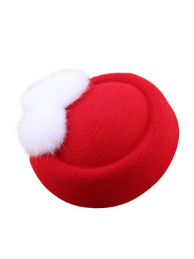 Funcee Fashion Girls Festival Furry Beret Hat For Wedding Party Ball