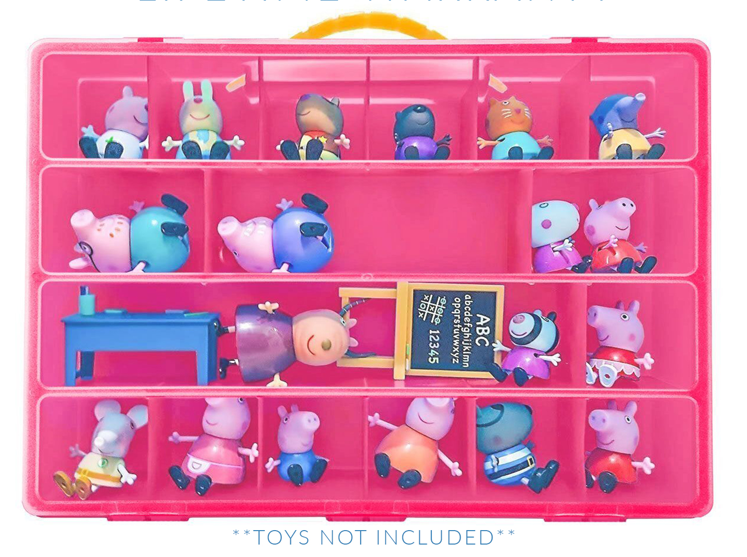 Paw Patrol Kids Toy Organizer Bin Children S Storage Box: Peppa Pig Case, Toy Storage Carrying Box. Figures Playset