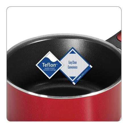 Tramontina Everyday 1 Quart Non-Stick Red Open Sauce Pan