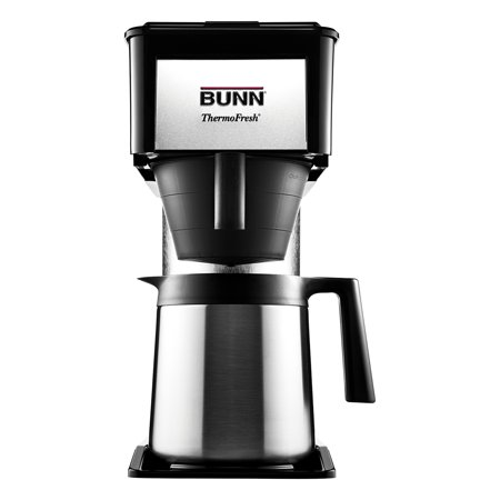 Bunn 10 Cup Velocity Brew Bt Thermal Coffee Brewer  Black  Stainless Steel