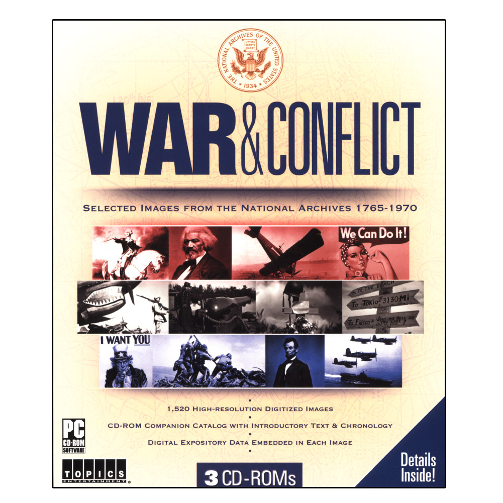 War & Conflict Image Collection for Windows PC- XSDP -80714 - War & Conflict on CD-ROM represents an invaluable virtual catalog of over 1,500 images relating to American battle involvement 1765-1