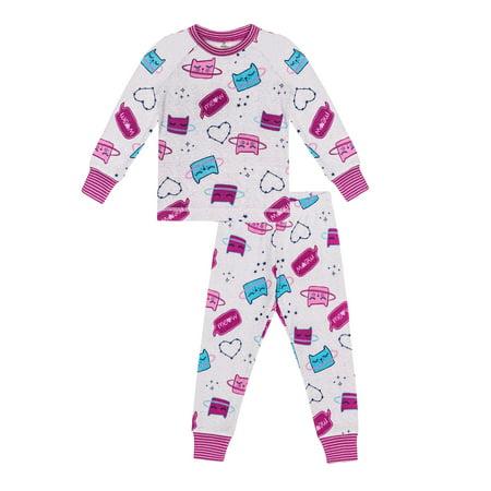 Girls' Cosmic Cats 2 Piece Pajama Sleep Set (Little Girl & Big Girl)