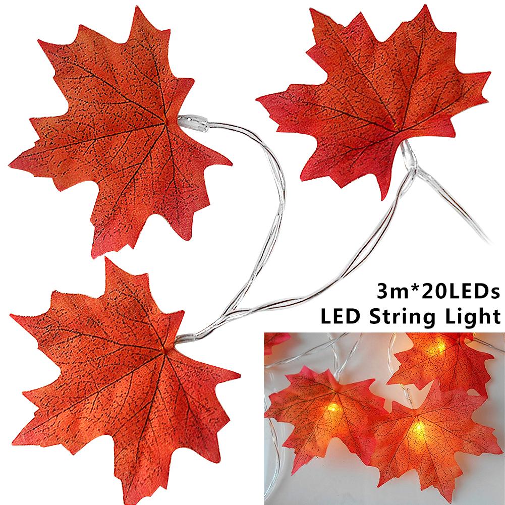 Maple Leaf Shaped Led Personalized Innovative Diy Decorative String Light