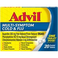 Advil Multi-Symptom Cold & Flu, Pain & Fever Reducer (20 Ct)