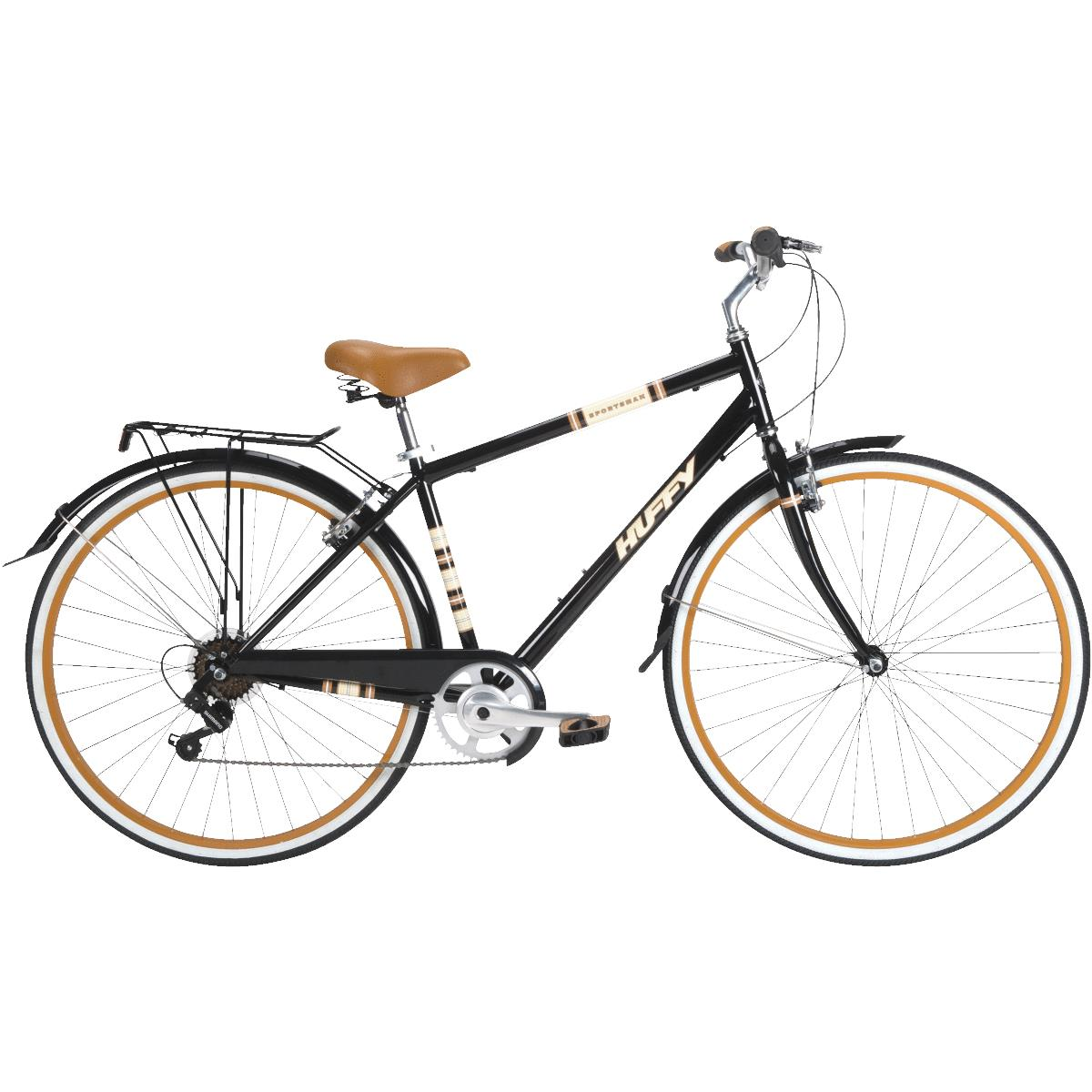 Huffy 700C Men's Sportsman Modern Cruiser Bike, Black