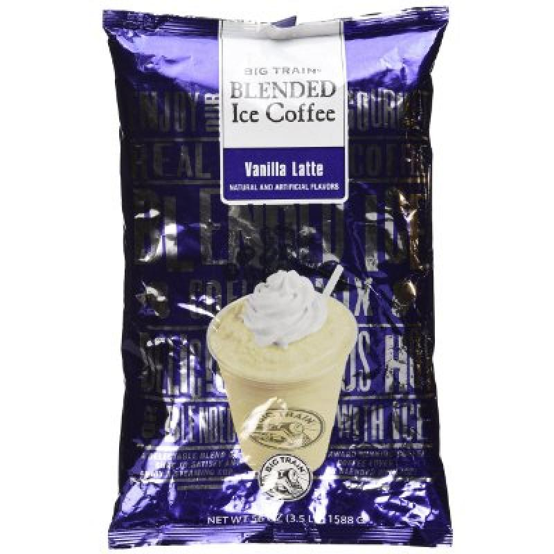 Big Train Blended Ice Coffee Iced Coffee Mix Vanilla Latte 3.5lb Bulk Bag - Single Bag
