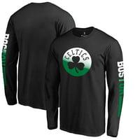 Men's Fanatics Branded Black Boston Celtics Gradient Long Sleeve T-Shirt