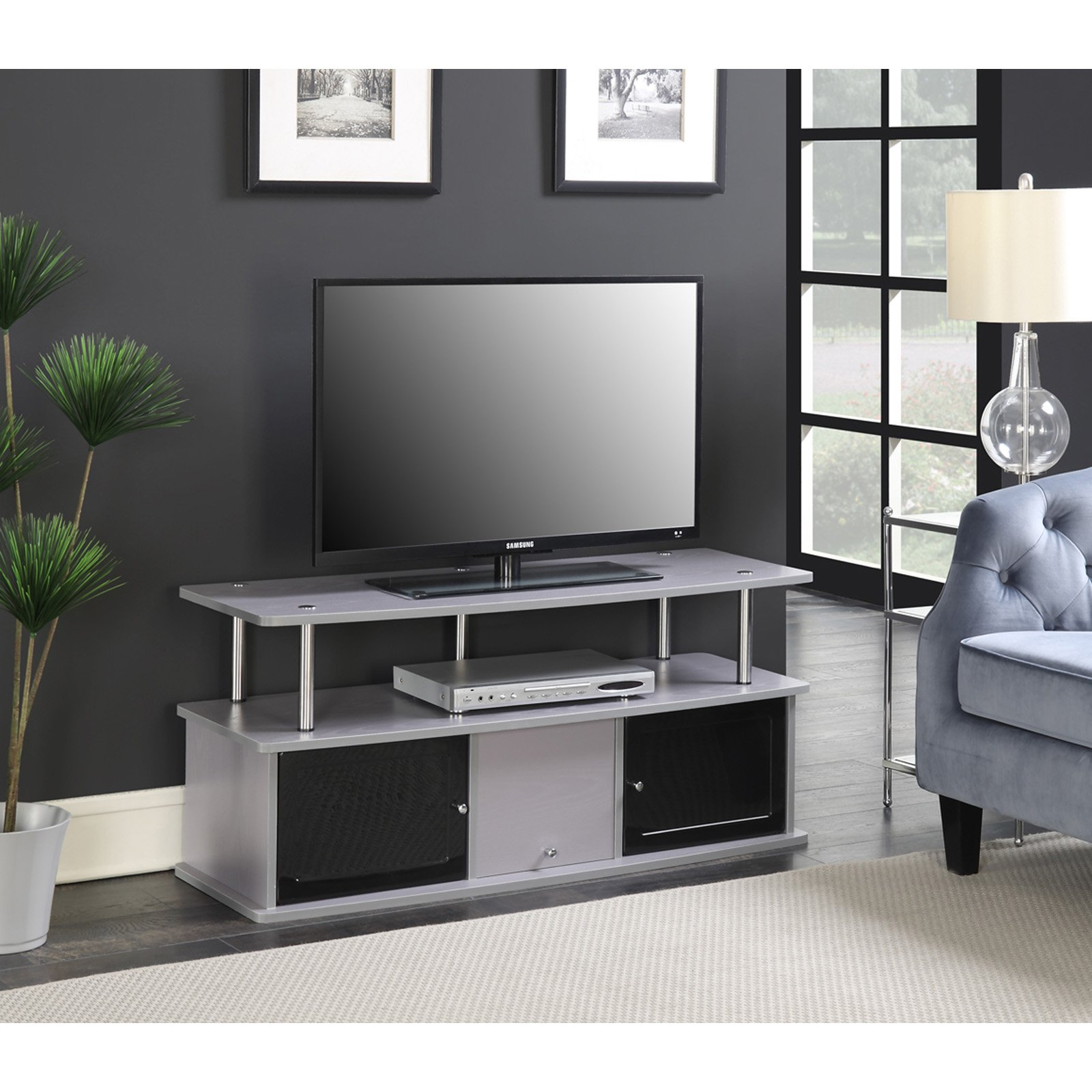 Convenience Concepts Designs2Go TV Stand with 3 Cabinets by Convenience Concepts