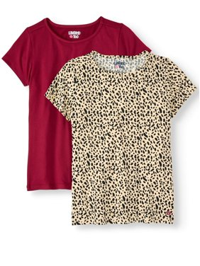 Print and Solid Yummy Tees, 2-Pack (Little Girls & Big Girls)
