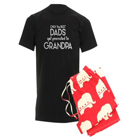 4537ddcd CafePress - BEST DADS GET PROMOTED TO GRANDPA Pajamas - Men's Dark Pajamas  - Walmart.com
