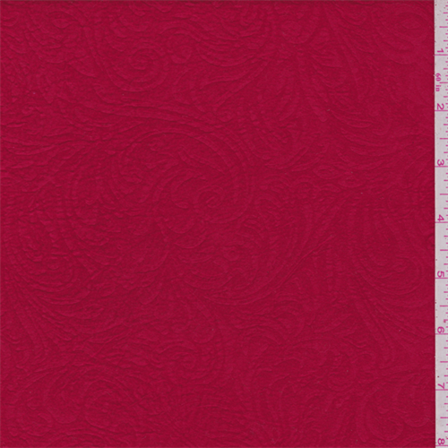 """Red """"""""Elephant Skin"""""""", Fabric By the Yard"""