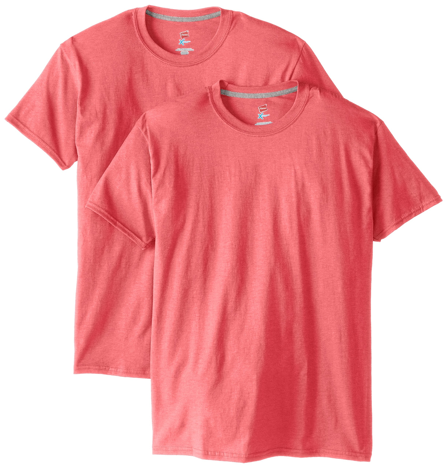 Hanes Pack2 Men Short Sleeve X-Temp T-Shirt, Style 4200X-Pack2