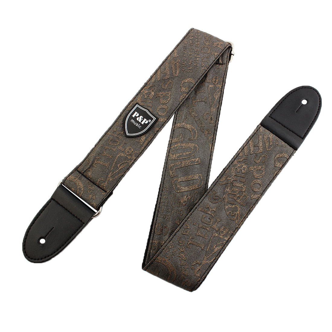 Nylon Adjustable Electric Classic Acoustic Guitar Bass Strap Belt String Gray