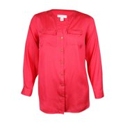 charter club women's roll-tab buttoned military shirt