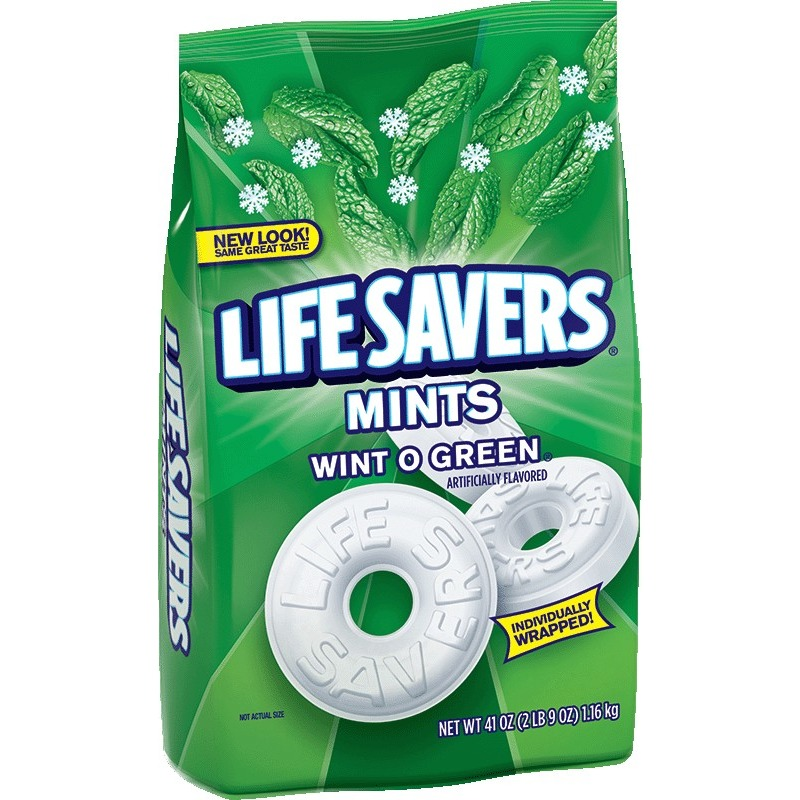 Life Savers Wint O Green Mints Candy Bag, 41 ounce