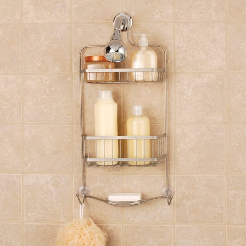 Mainstays Premium Over-the-Shower Caddy, Satin Nickel by Zenith Products