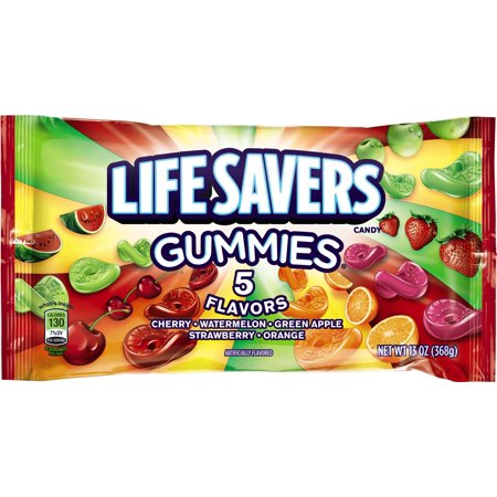 Gummi Strawberry Candy (Life Savers, 5 Assorted Flavors Gummy Candy, 13 Oz (3)