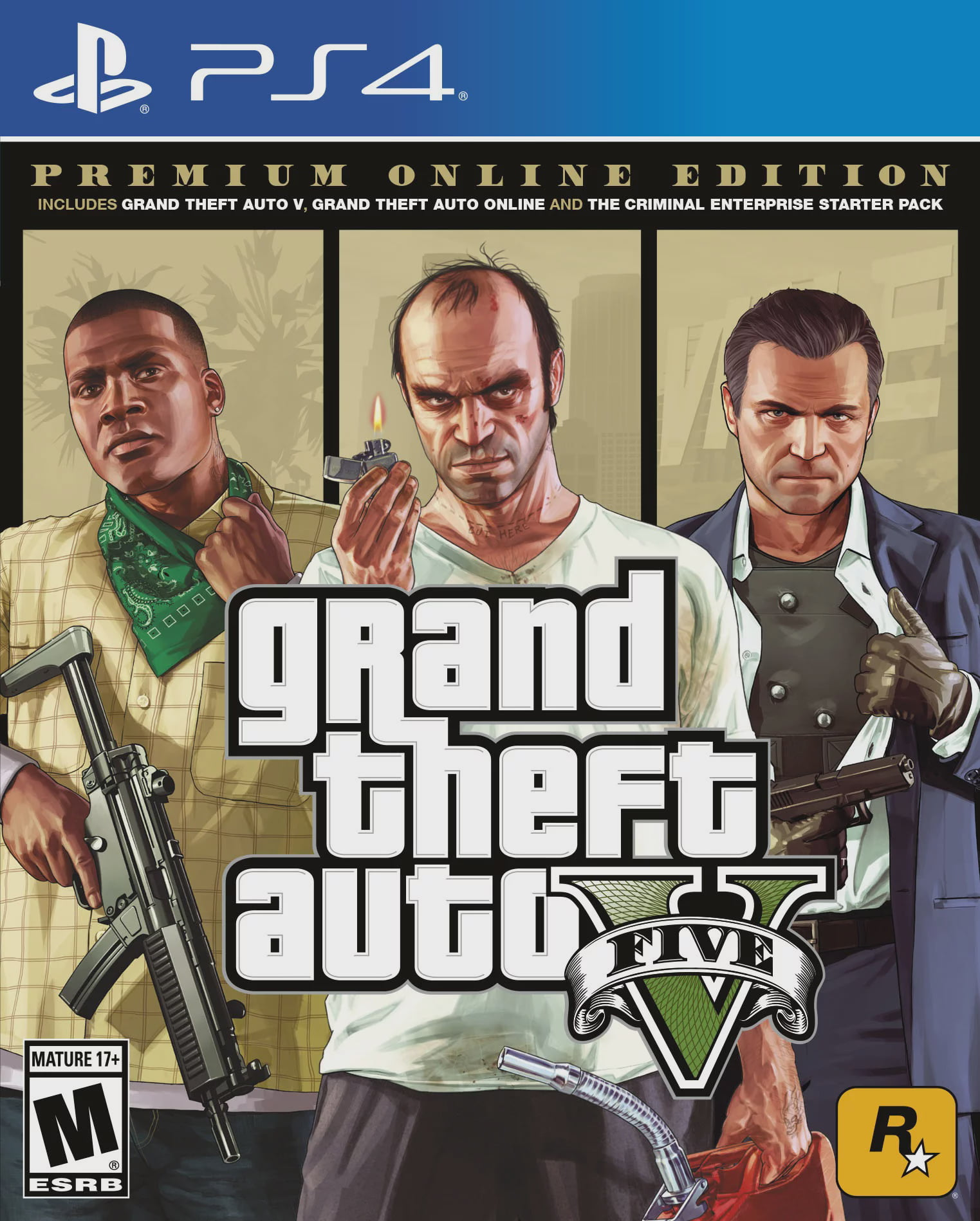 Grand Theft Auto V: Premium Online Edition, Rockstar Games, PlayStation 4, 710425570322