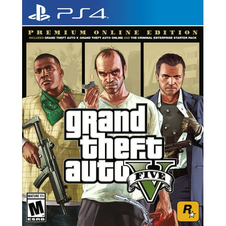 Grand Theft Auto V: Premium Online Edition, Rockstar Games, PlayStation 4,