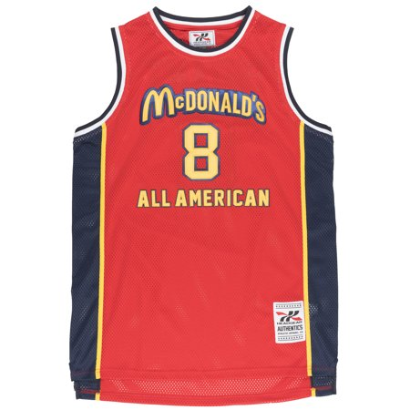 check out d60a7 503de Kobe Bryant McDonalds All American Basketball Jersey #8 Mamba Retro Red  Headgear