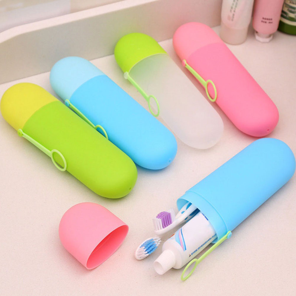 Moderna Portable Travel Toothpaste Toothbrush Holder Storage Cup Bathroom Accessories