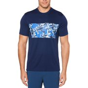 Perry Ellis Mens Knit Logo Graphic T-Shirt