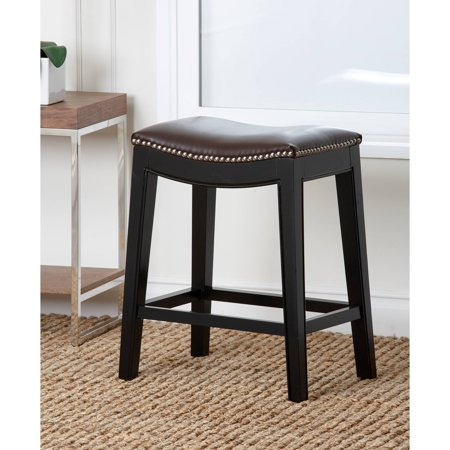 Devon & Claire Malory Leather Nailhead Trim Counter Stool, Multiple - Claire Stool