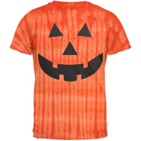 Halloween Jack-O-Lantern Face Youth Tie Dye T-Shirt