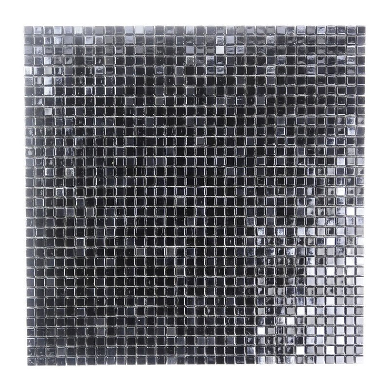 "Abolos- Galaxy Straight 0.31"" x 0.31"" Glass Mosaic Tile in Dark Gray (10sqft / 10pc Box)"