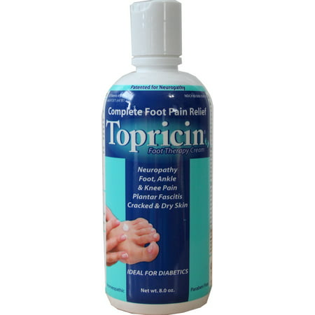 Topricin Foot Pain Relief Cream, 8 Oz