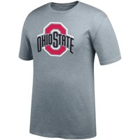 968197635 Product Image Men's Gray Ohio State Buckeyes Primary Logo T-Shirt