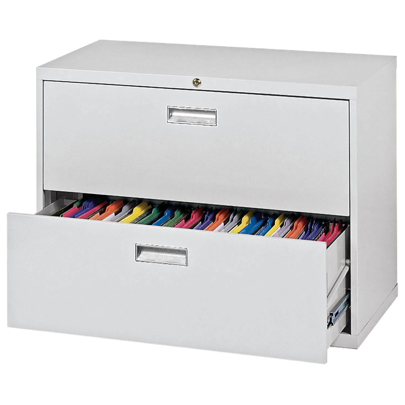 "Sandusky Lee 600 Series 36"" 2-Drawer Lateral File, Dove Gray"