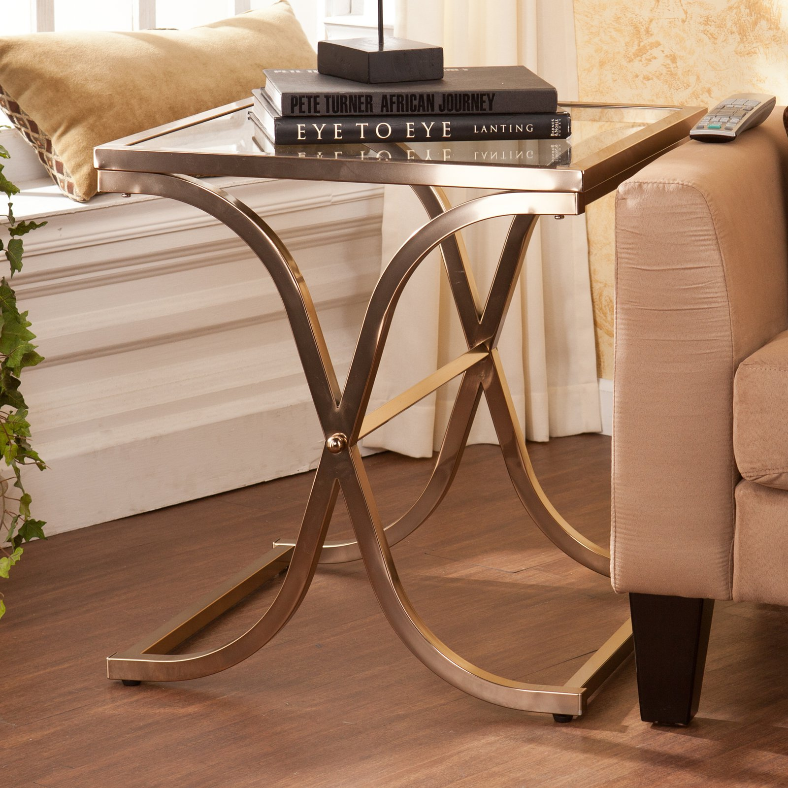 Southern Enterprises Vogue End Table - Champagne Brass