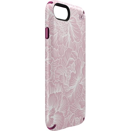 Pink Ipod Touch Cases (Speck Presidio INKED Case for iPhone 7 - Magenta pink/FreshFloral rose)