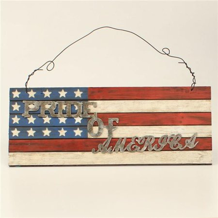 M&F Western 9500014 Pride of America Wood Wall Sign, Multi Color - image 1 of 1