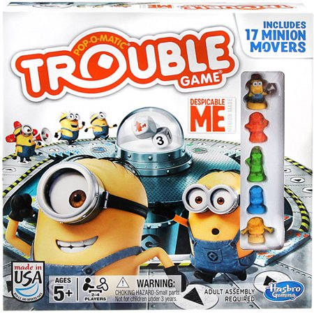 Hasbro Gaming Trouble Game Pop-O-Matic Despicable Me Toy Ages 5+